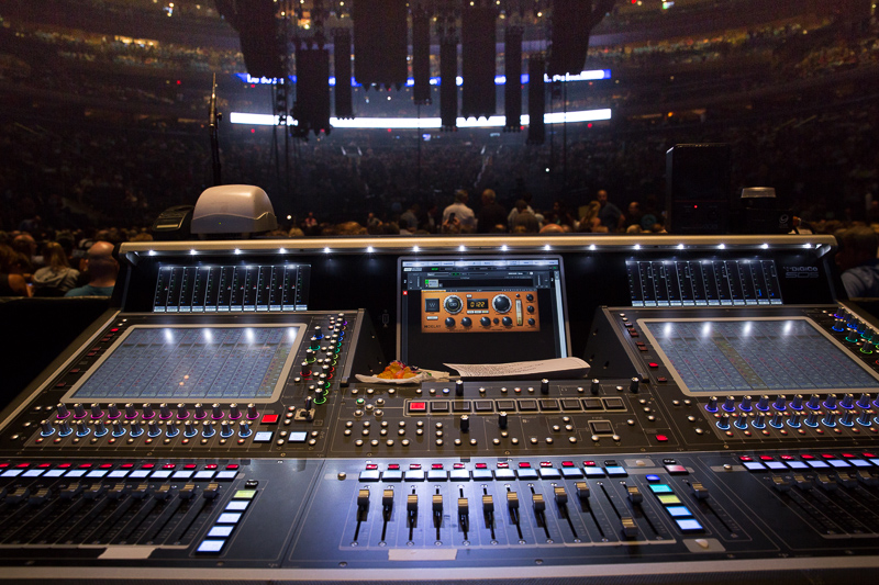 view from the sound board before the show MSG 082015