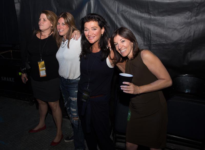 Myrna Suarez, Lisa Wolf, Claire Mercuri Lori Silfin at MSG 082015