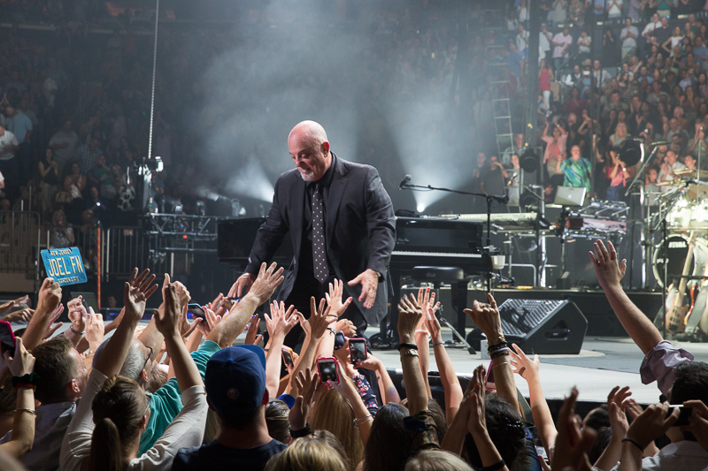 Billy Joel on stage at MSG 082015