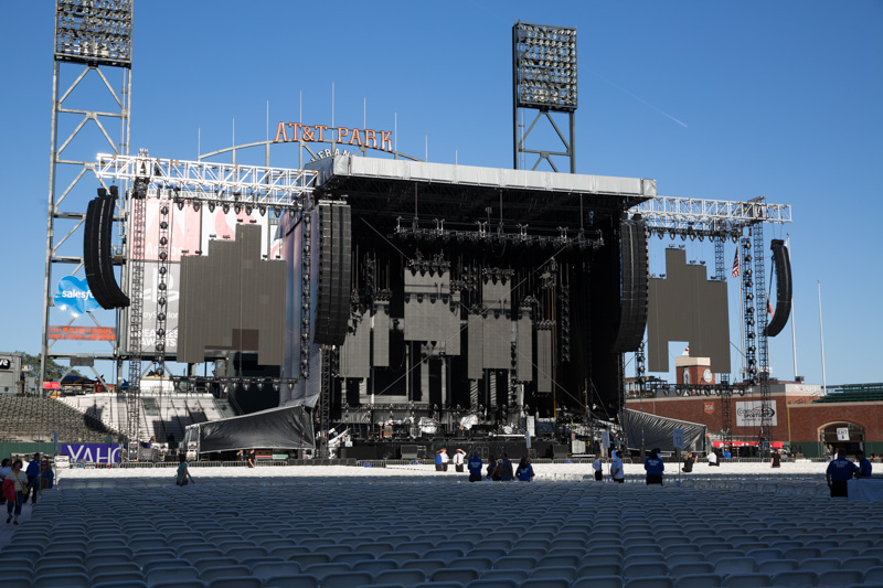 Sound Check Billy Joel In Concert at  AT&T Park 090515