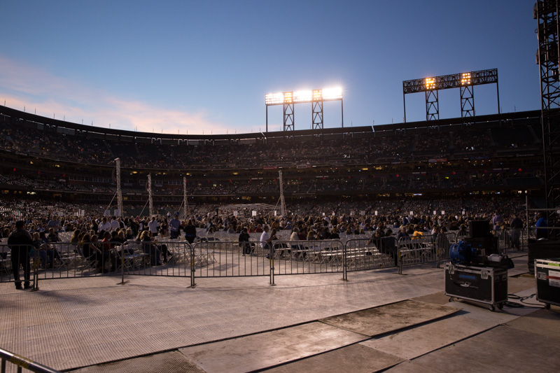 Before the show Billy Joel In Concert at  AT&T Park 090515