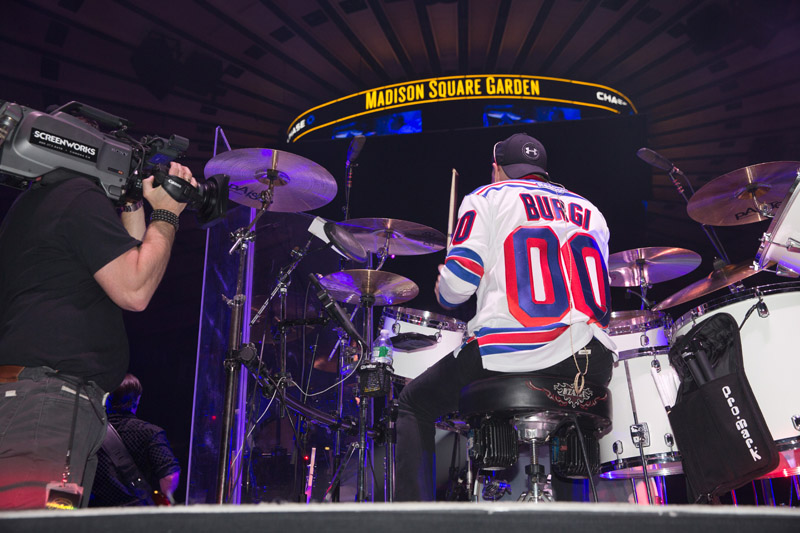 Chuck Burgi live on stage with Billy Joel At MSG, January 7th, 2016