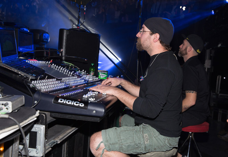 Josh Weibel mixing monitors, Billy Joelat MSG, January 7th, 2016