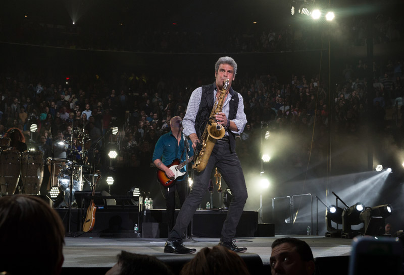 Mark Rivera live on stage with Billy Joel at MSG, January 7th, 2016