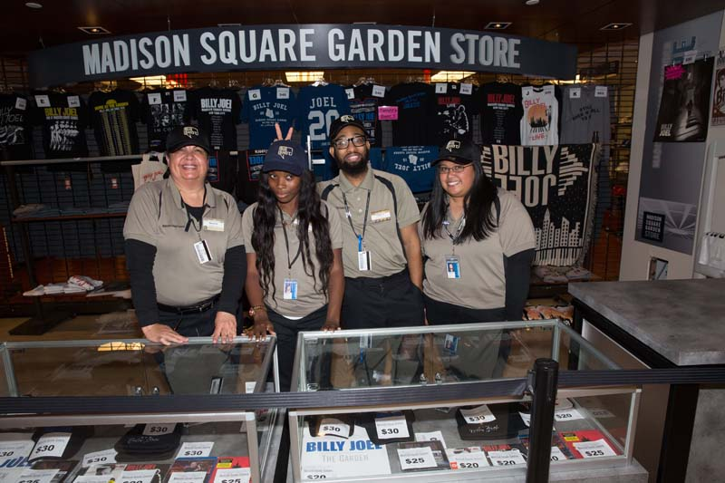 MSG staff with new Big Shot Hat