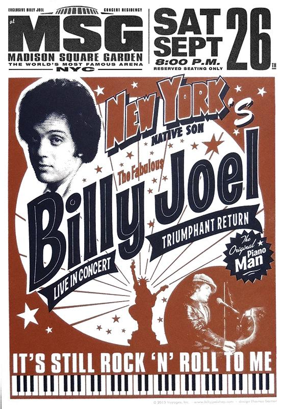 Billy Joel At Madison Square Garden New York, NY – September 26, 2015 (Photo 62)