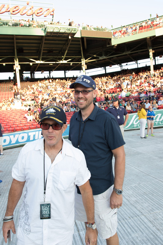 Steve Cohen and Curtis Cox at Fenway Park