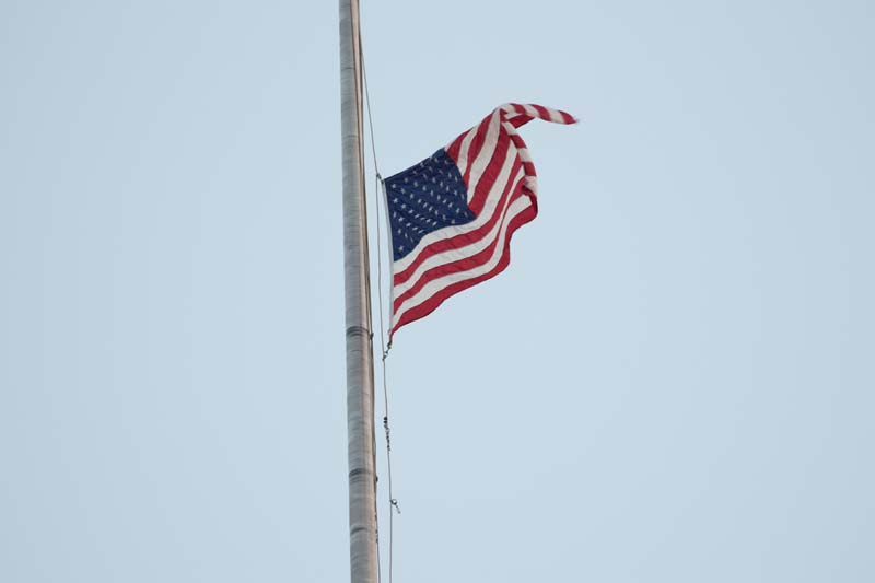 American flag over M&T Bank Stadium, Baltimore 072515