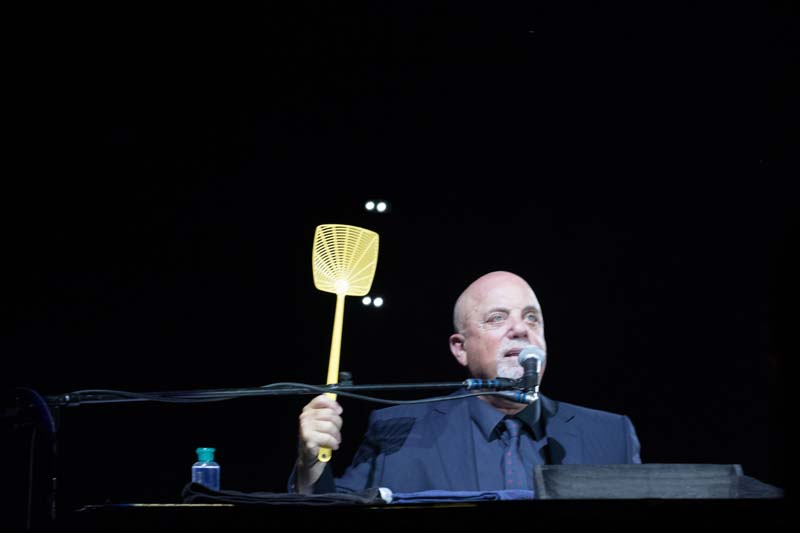 Billy Joel with fly swatter at M&T Bank Stadium, Baltimore 072515