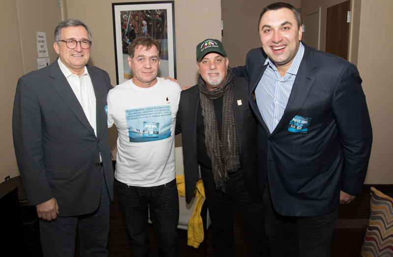 Oleg, Viktor, Billy, and Andrew backstage at MSG 102115