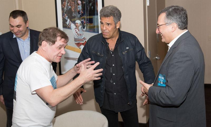 Viktor with Mark Rivera and Oleg Smirnoffback stage at MSG 102115