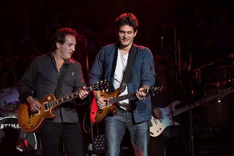 Tommy Byrnes and John Mayer Li9ve At MSG 102115