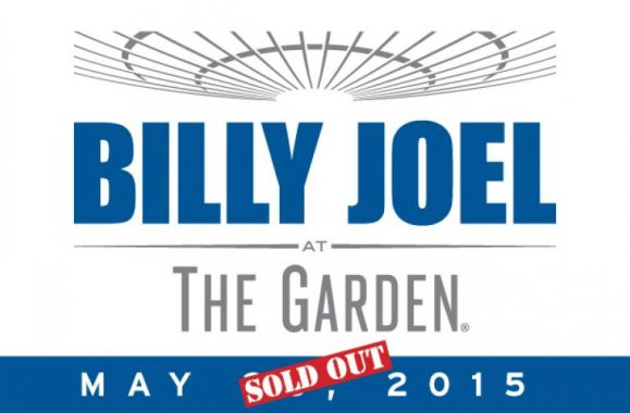 Billy Joel Adds 17th Show At The Garden On Thursday, May 28, 2015 Due To Overwhelming Demand