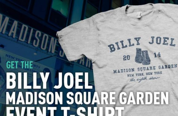 Billy Joel MSG 8th Show T-Shirt Available Now
