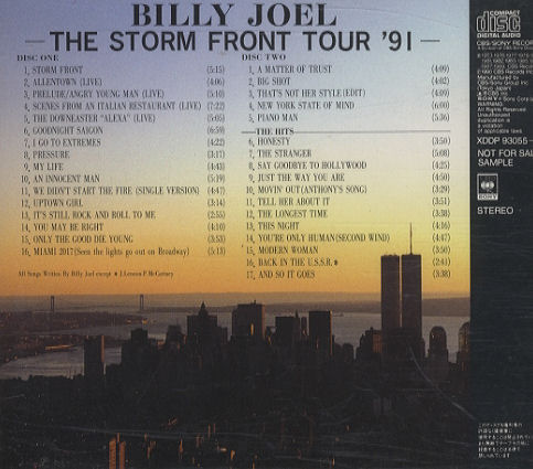 Billy Joel Storm Front Tour