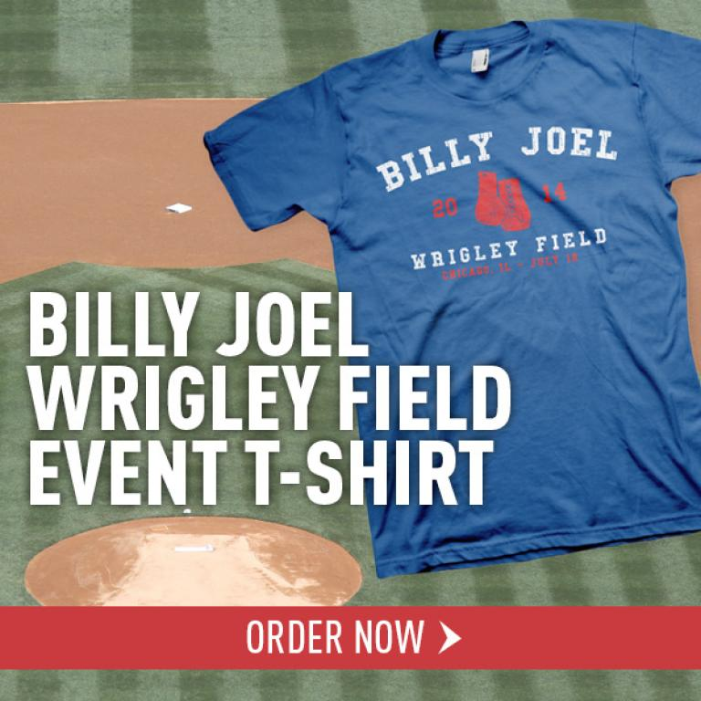 17fc906ae Billy Joel Wrigley Field T-Shirt Available Now | Billy Joel Official ...