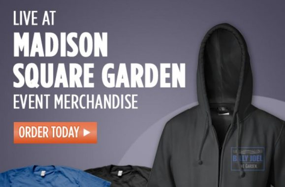 Billy Joel Madison Square Garden Merch Available Now