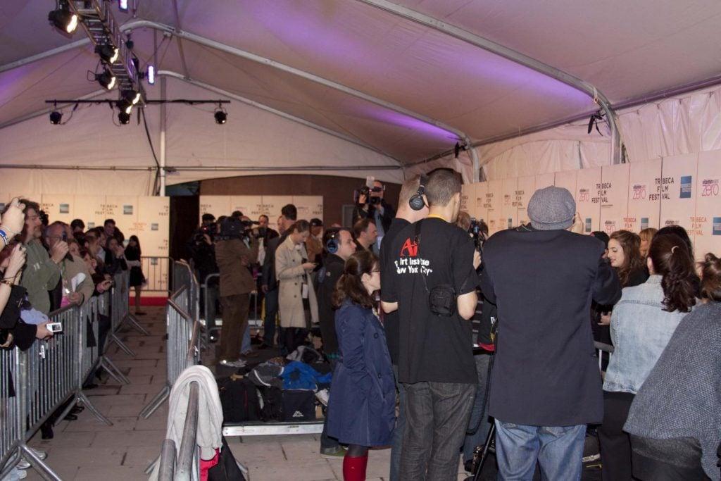 Tribeca Red Carpet: Crowd shot 2