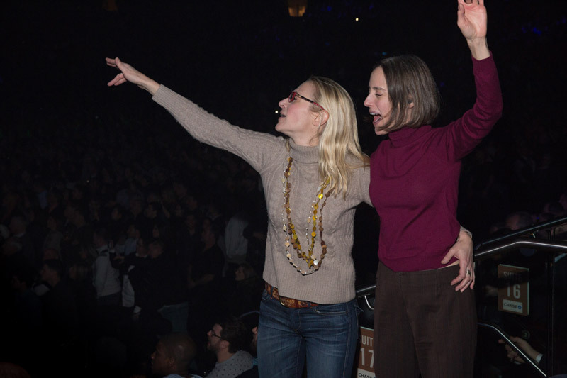 Fans in the audience, Madison Square Garden, February 13
