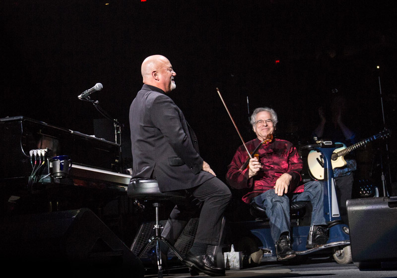 Billy Joel and Itzhak Perlman at Madison Square Garden New York, NY March 15, 2016