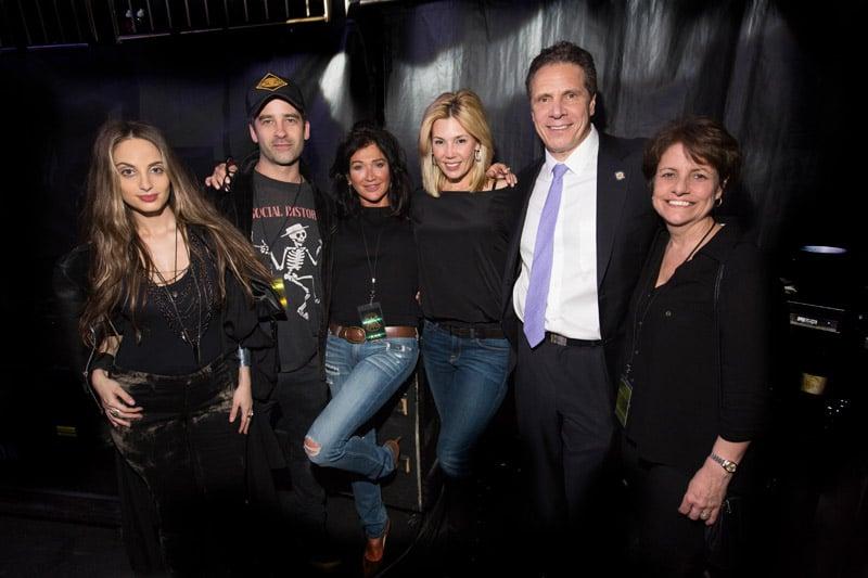 Alexa Ray Joel, Ryan Gleason, Claire Mercuri, Alexis Joel, Gov. Andrew Cuomo and Teresa Zampino at Madison Square Garden in New York, NY on March 15, 2016