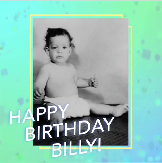 Billy Joel baby photo 2016 birthday
