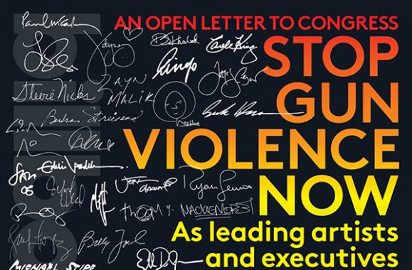 Stop Gun Violence Now: An Open Letter To Congress – Billboard
