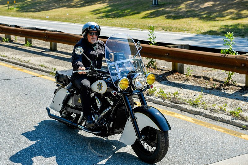 June 27, 2016- Kings Park, NY- Billy Joel rides in the Breast Cancer Motorcycle Ride on Sunken Meadow Parkway. (Office of the Governor/Darren McGee)