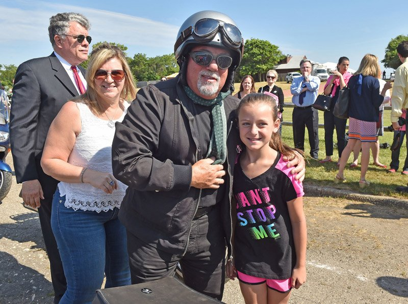 June 27, 2016--Long Island-- Billy Joel with Long Islanders at Govenor Cuomo's first-ever statewide breast cancer motorcycle ride at Sunken Meadow State Park in Kings Park, Long Island. (Office of the Governor/Kevin P. Coughlin)