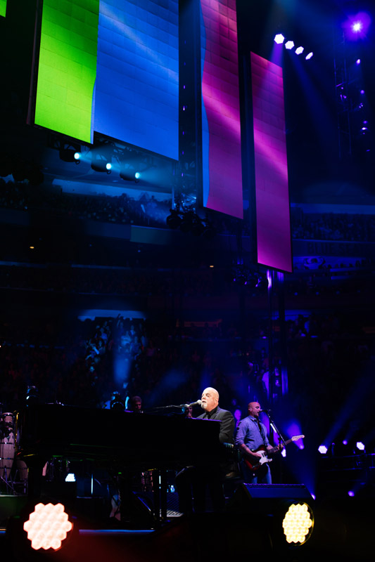 Billy Joel performs You're Only Human (Second Wind) at Madison Square Garden in New York, NY, on June 17, 2016 in tribute to victims and families of Orlando shooting