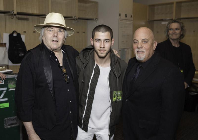 Gene Cornish, Nick Jonas, Billy Joel backstage at Madison Square Garden New York, NY June 17, 2016