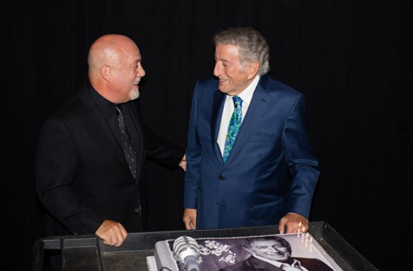 Billy Joel & Tony Bennett Backstage At MSG July 20