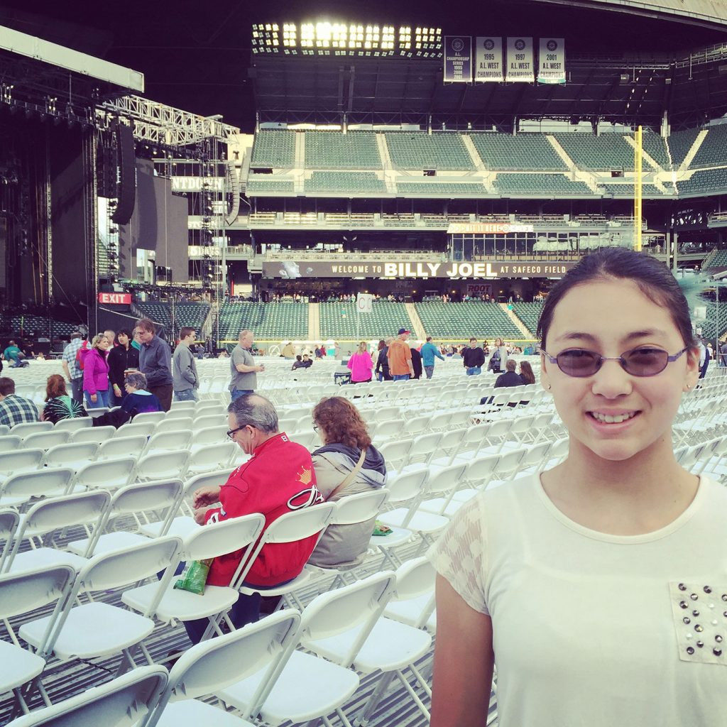 Alexa's first concert ever, at 11yrs old – so proud for it to be Billy Joel!