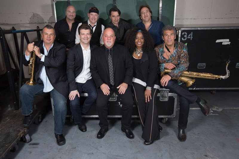 Billy Joel and band April 15, 2016. Mike DelGuidice, Chuck Burgi, Andy Cichon, Tommy Byrnes, Carl Fischer, Dave Rosenthal, Billy Joel, Crystal Taliefero and Mark Rivera