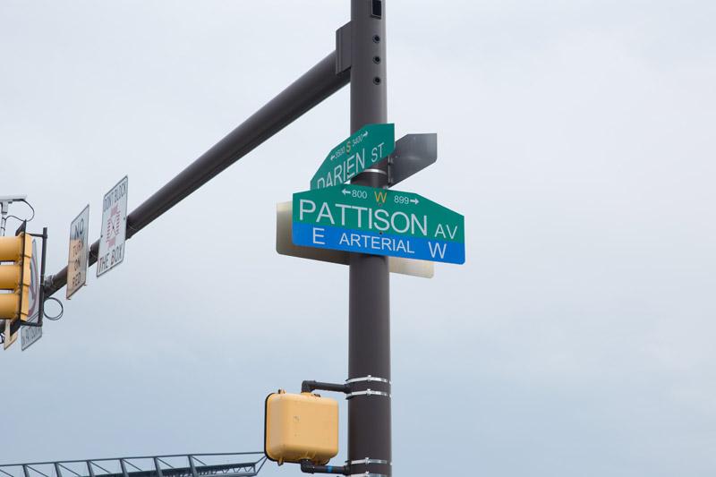 Street sign, at Citizens Bank Park, Philladelphia, PA, July, 9, 2016