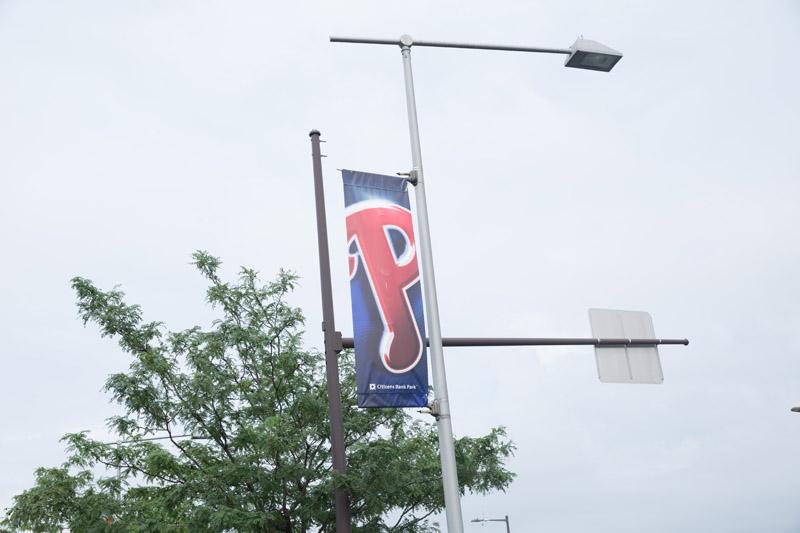 Banner outside Citizens Bank Park, Philladelphia, PA, July, 9, 2016