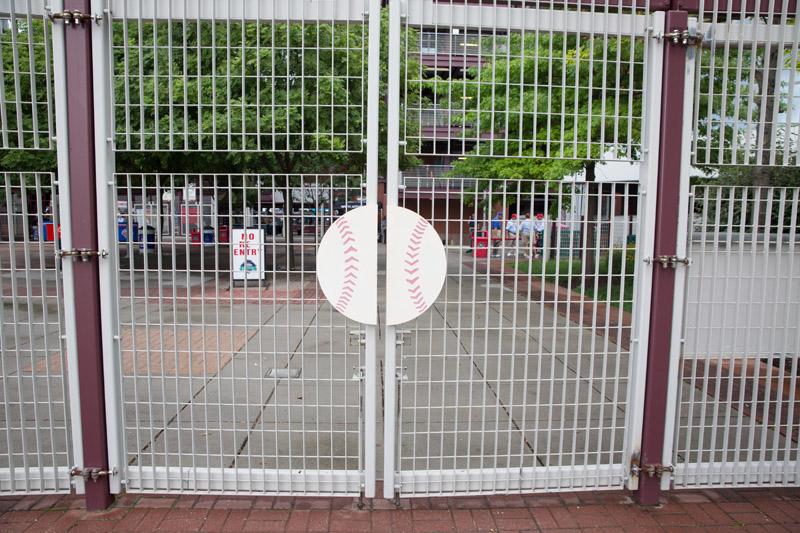 Gate outside Citizens Bank Park, Philladelphia, PA, July 9, 2016