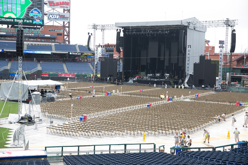 Before the show at  Citizens Bank Park, Philladelphia, PA, July 9, 2016
