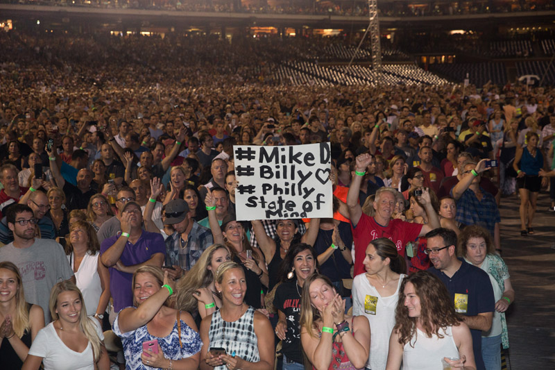 Fans in the audience at Citizens Bank Park, Philladelphia, PA, July 9, 2016