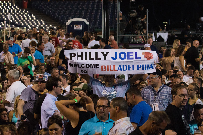 Fans in the audience at Billy Joel's concert at Citizens Bank Park in Philadelphia, PA on July 9, 2016.