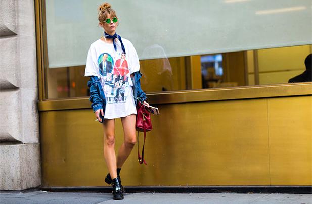 Billy Joel/Elton John T-shirt at New York Fashion Week 2016