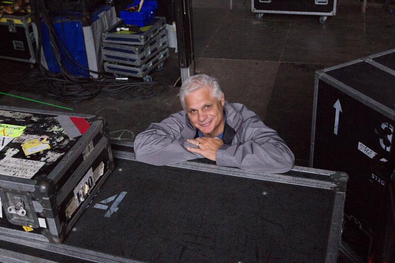 Bill Zampino at souncheck.  Billy Joel At Wembley Stadium, September 10, 2016