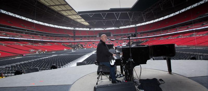 Billy Joel at soundcheck.  Billy Joel At Wembley Stadium, September 10, 2016