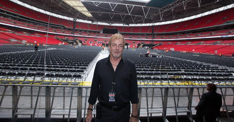 Max Loubiere at soundcheck.  Billy Joel At Wembley Stadium, September 10, 2016