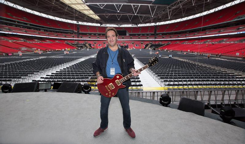 Tommy byrnes at soundcheck.  Billy Joel At Wembley Stadium, September 10, 2016