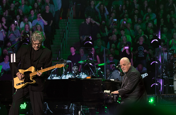 Billy Joel and Steve Miller perform at Madison Square Garden in New York, NY, in October 2015