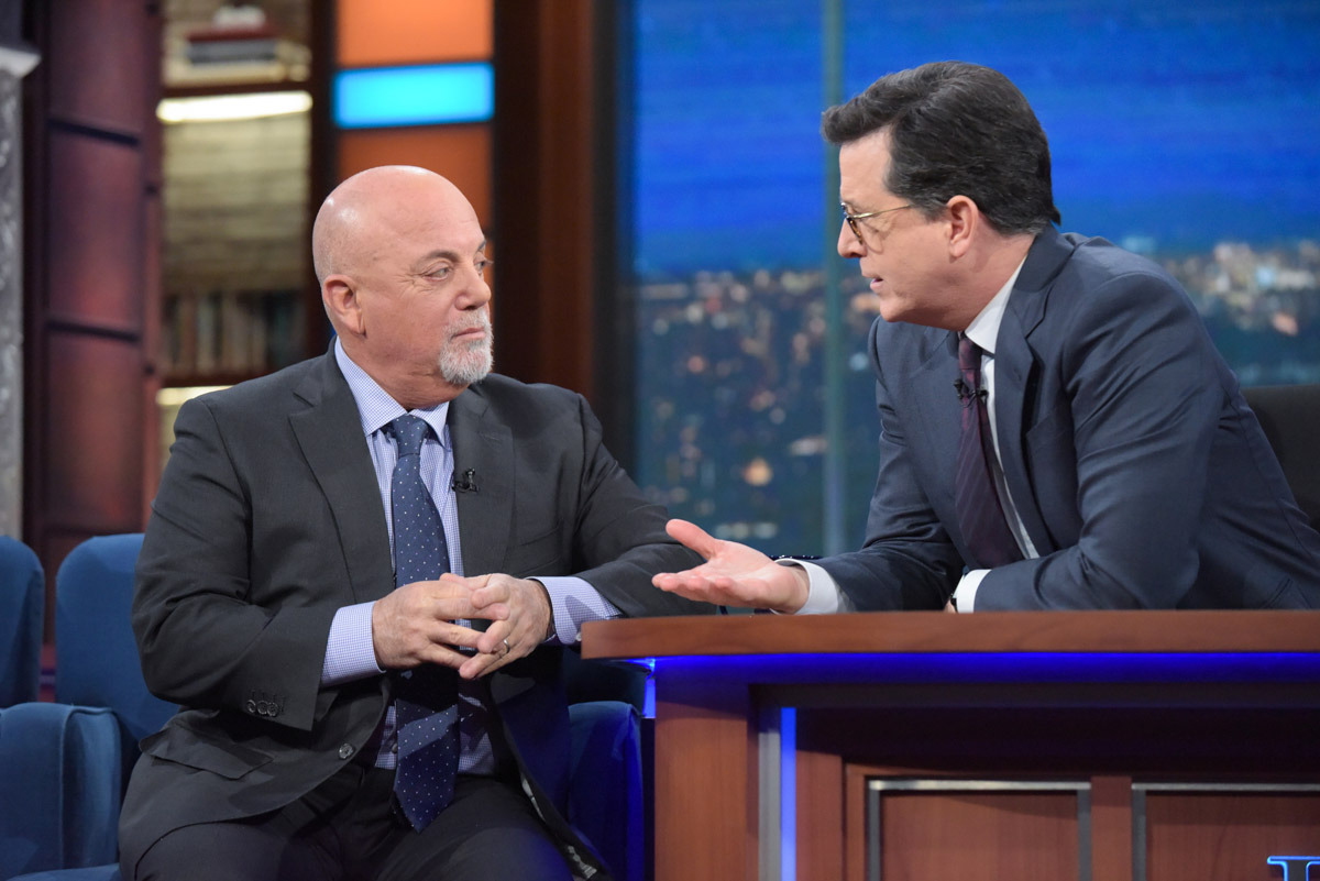 Billy Joel guest on The Late Show With Stephen Colbert January 9, 2017 New York, NY.