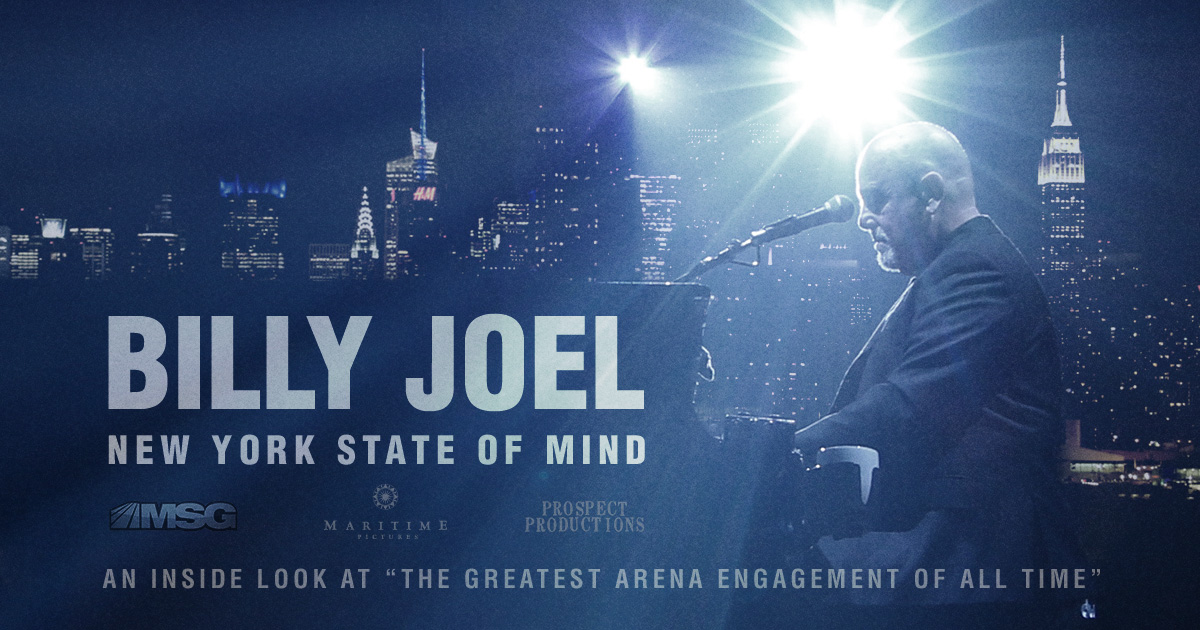 Billy Joel: New York State of Mind documentary debuts on WNBC January 21, 2017 and airs on MSG Network beginning February 2017