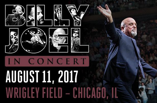 Billy Joel Wrigley Field Chicago, IL August 11, 2017