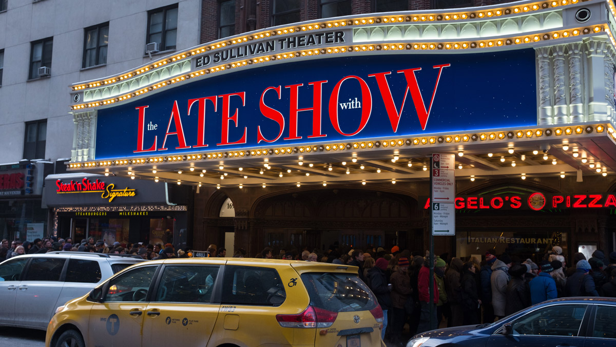 Fans wait outside Ed Sullivan Theater New York, NY to see The Late Show With Stephen Colbert with guest Billy Joel January 9, 2017